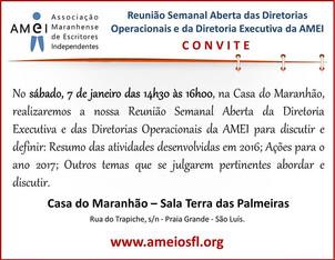 Reunião Semanal Aberta das Diretorias Operacionais e da Diretoria Excecutiva da AMEI.
