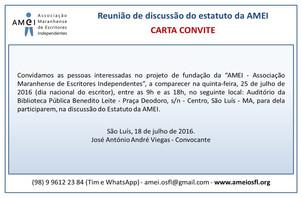 Reunião de discussão do estatuto da AMEI