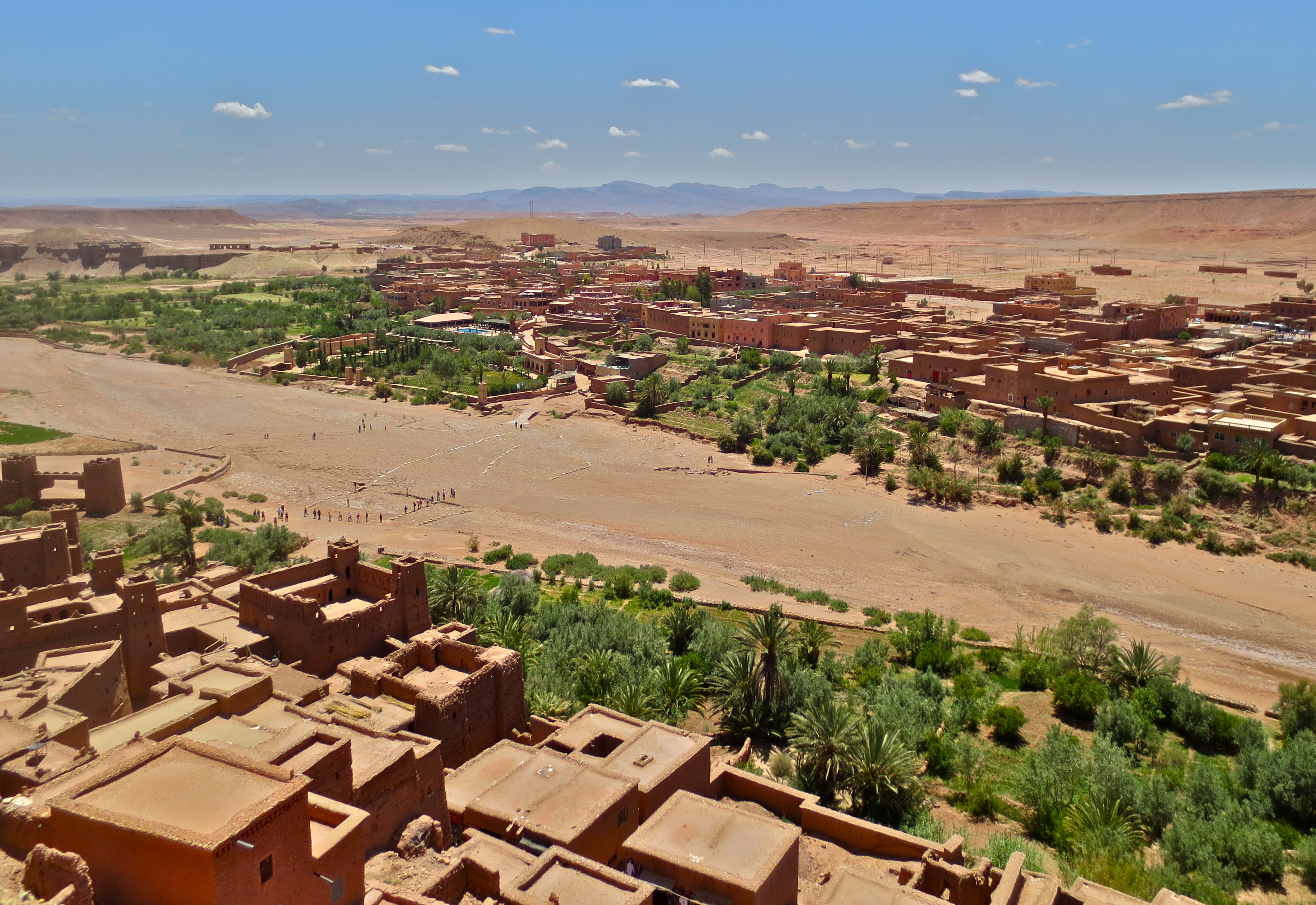 Looking down from the kasbah