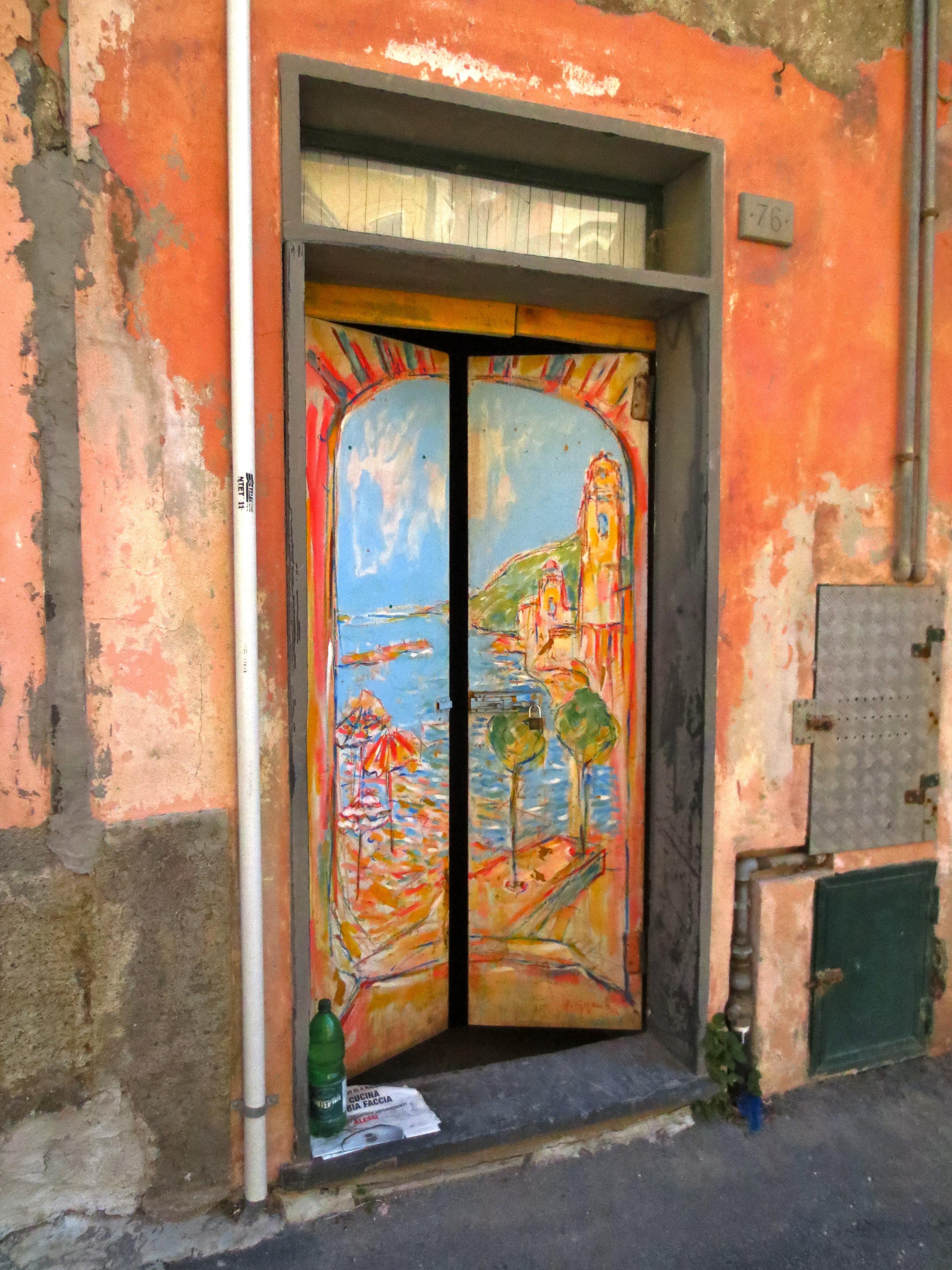 Seascape in a doorway
