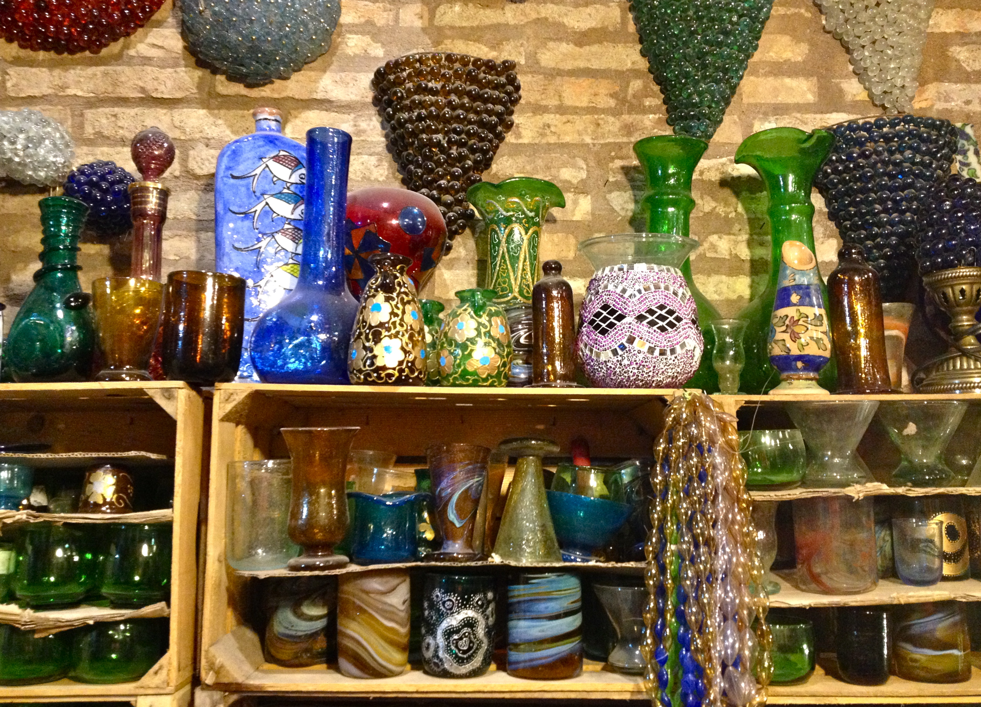 Shelves of glass