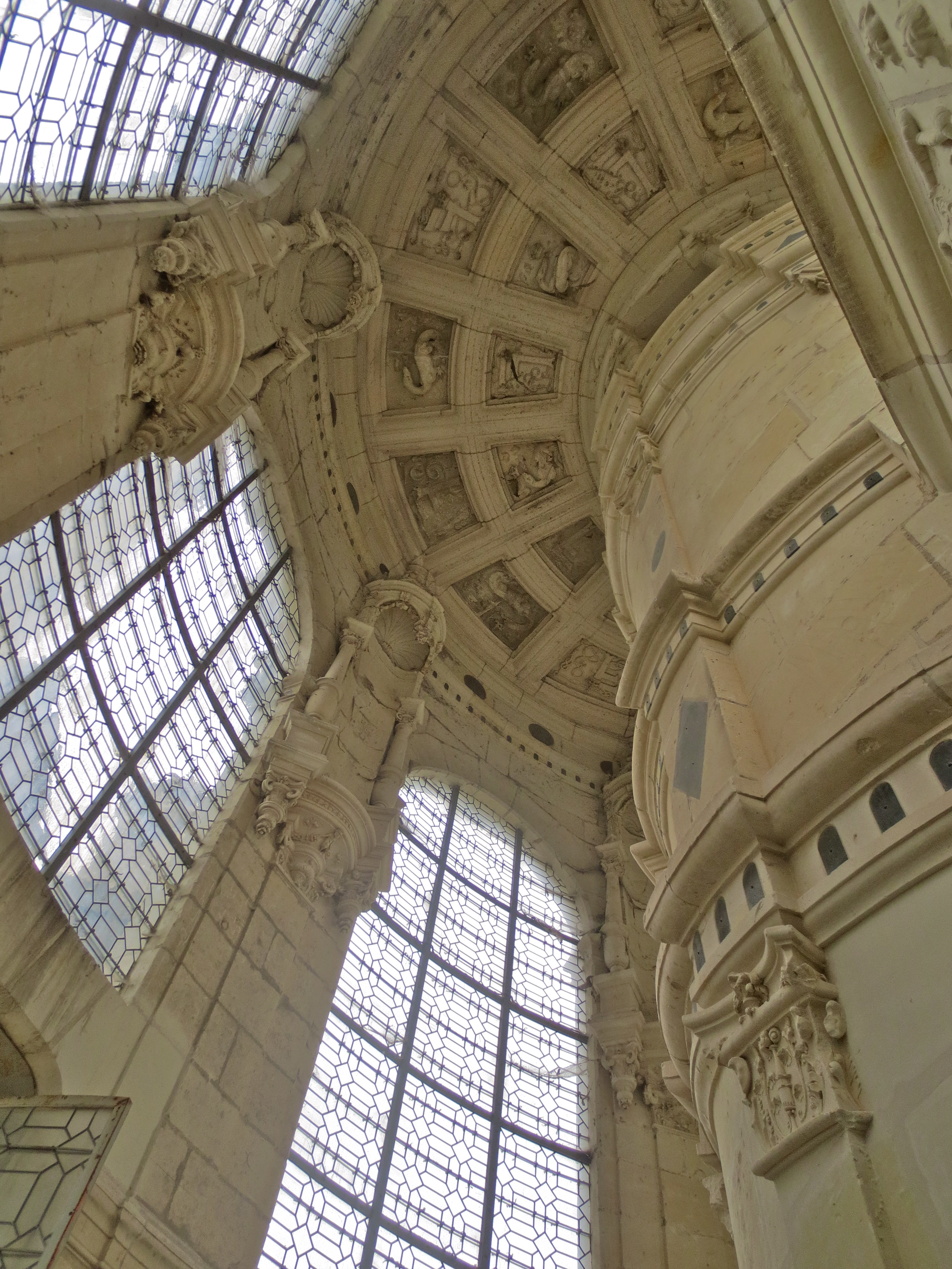 Staircase in Chambord