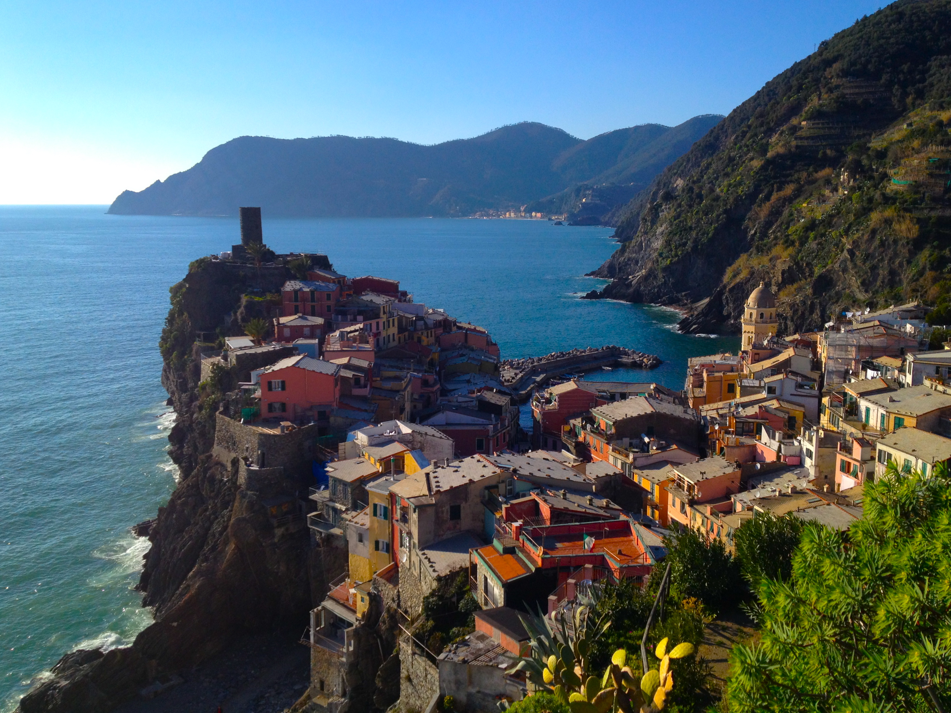 Looking out on Vernazza