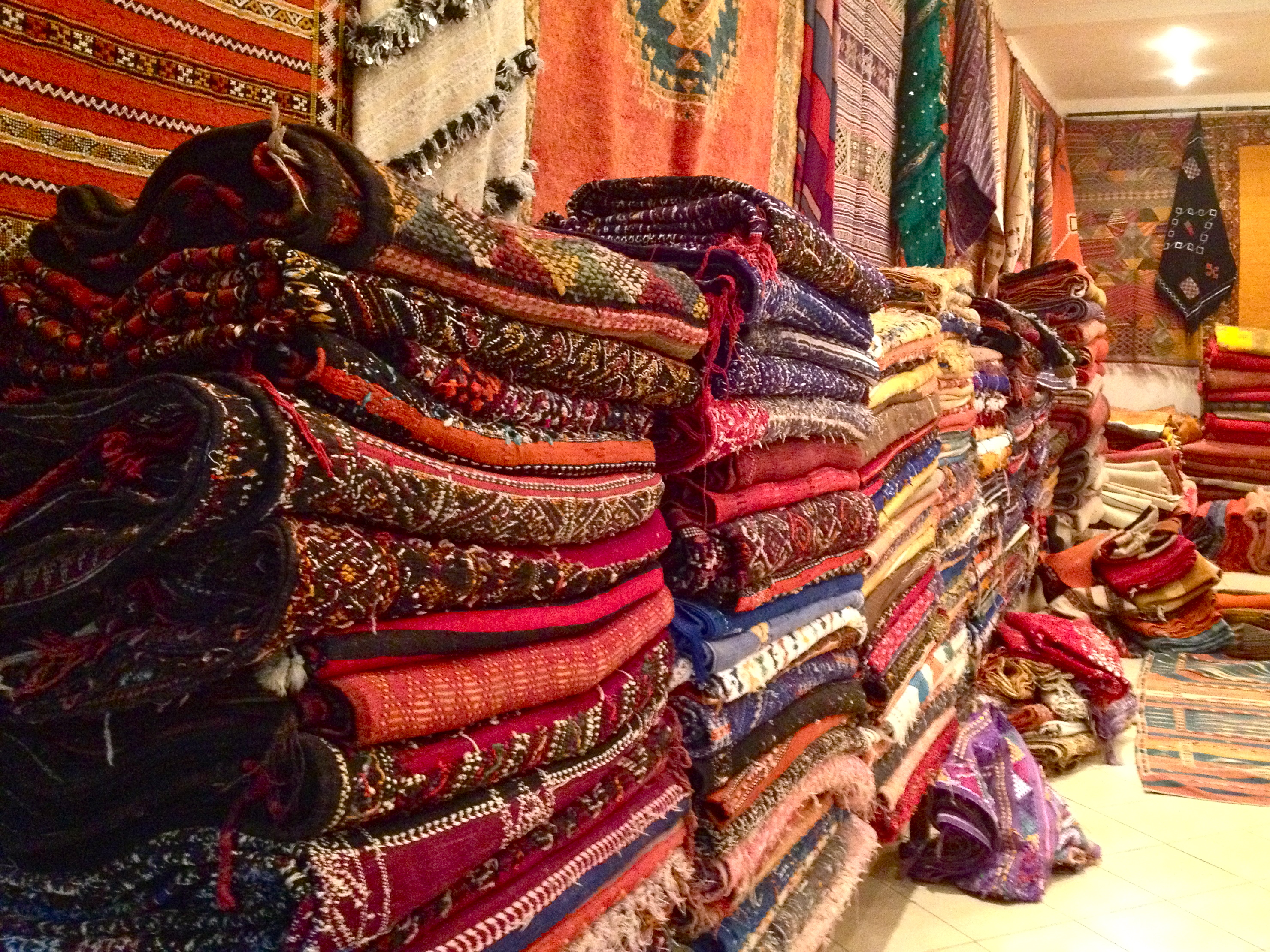 Berber rugs on rugs on rugs