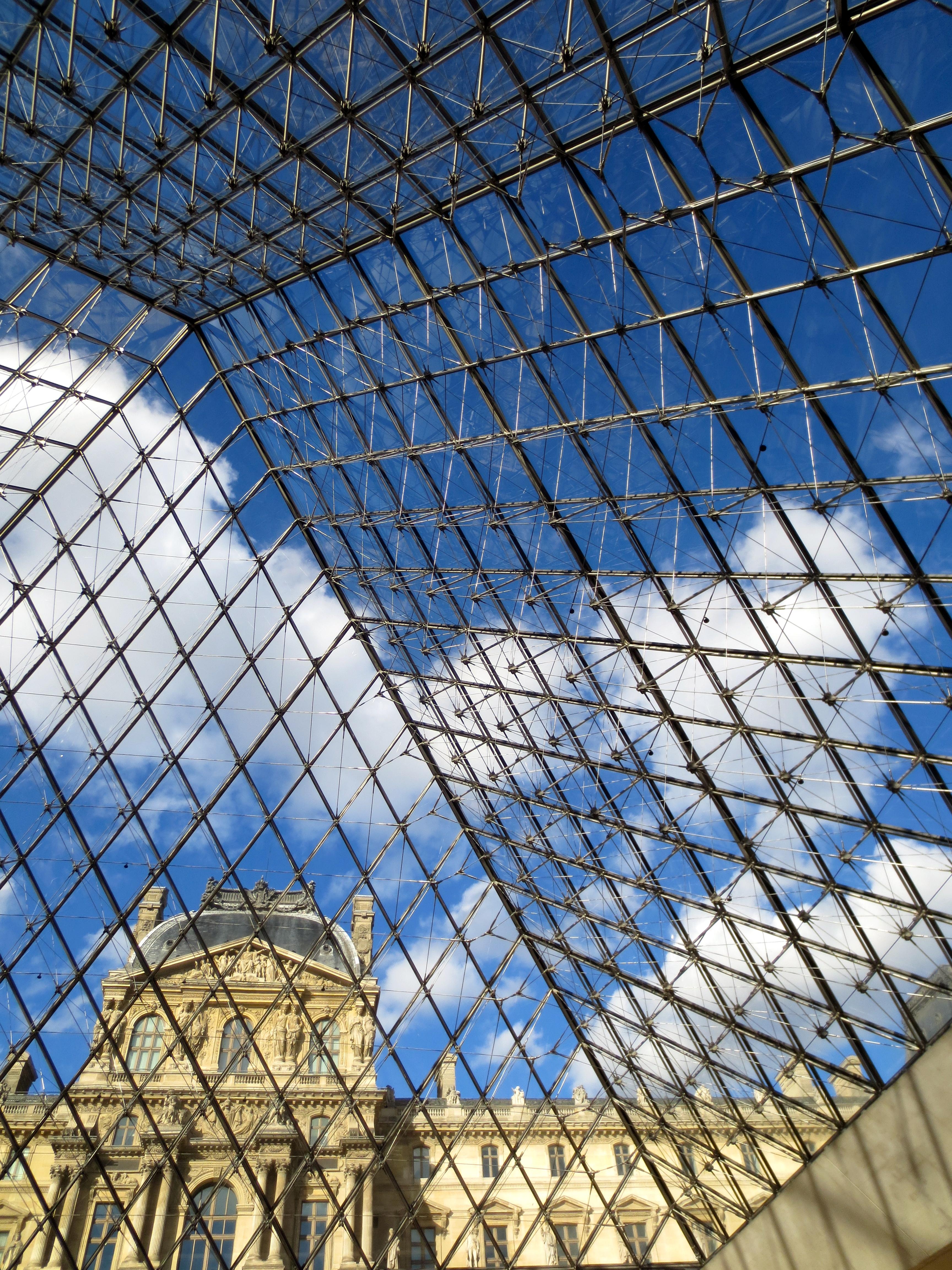 Below the Louvre