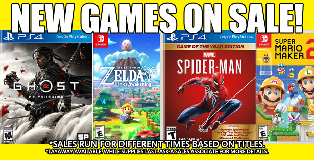 Games Sale 11-20-20