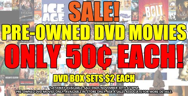 DVD Movies Sale