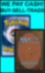 Vertical Small We Pay Cash Magic Pokemon