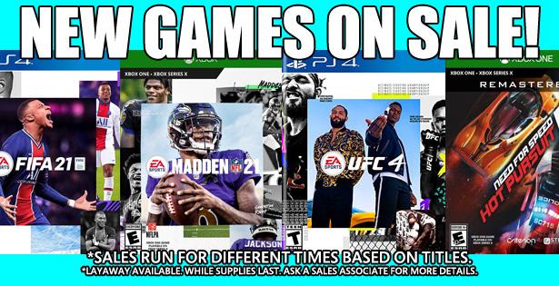 Games Sale 1-31-21