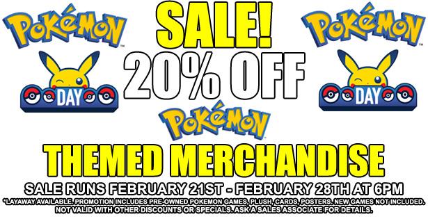 Pokemon Day Sale 2-21-21