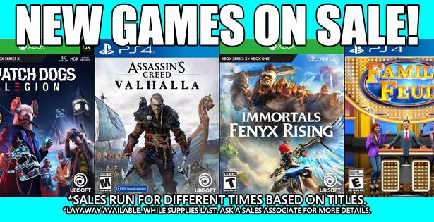 Games Sale 1-24-21