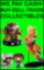 Vertical Small We Pay Cash Collectibles
