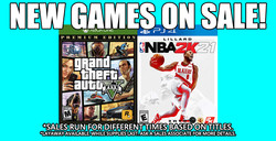 Games Sale 3-14-21