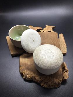 boites porcelaine collection oursin