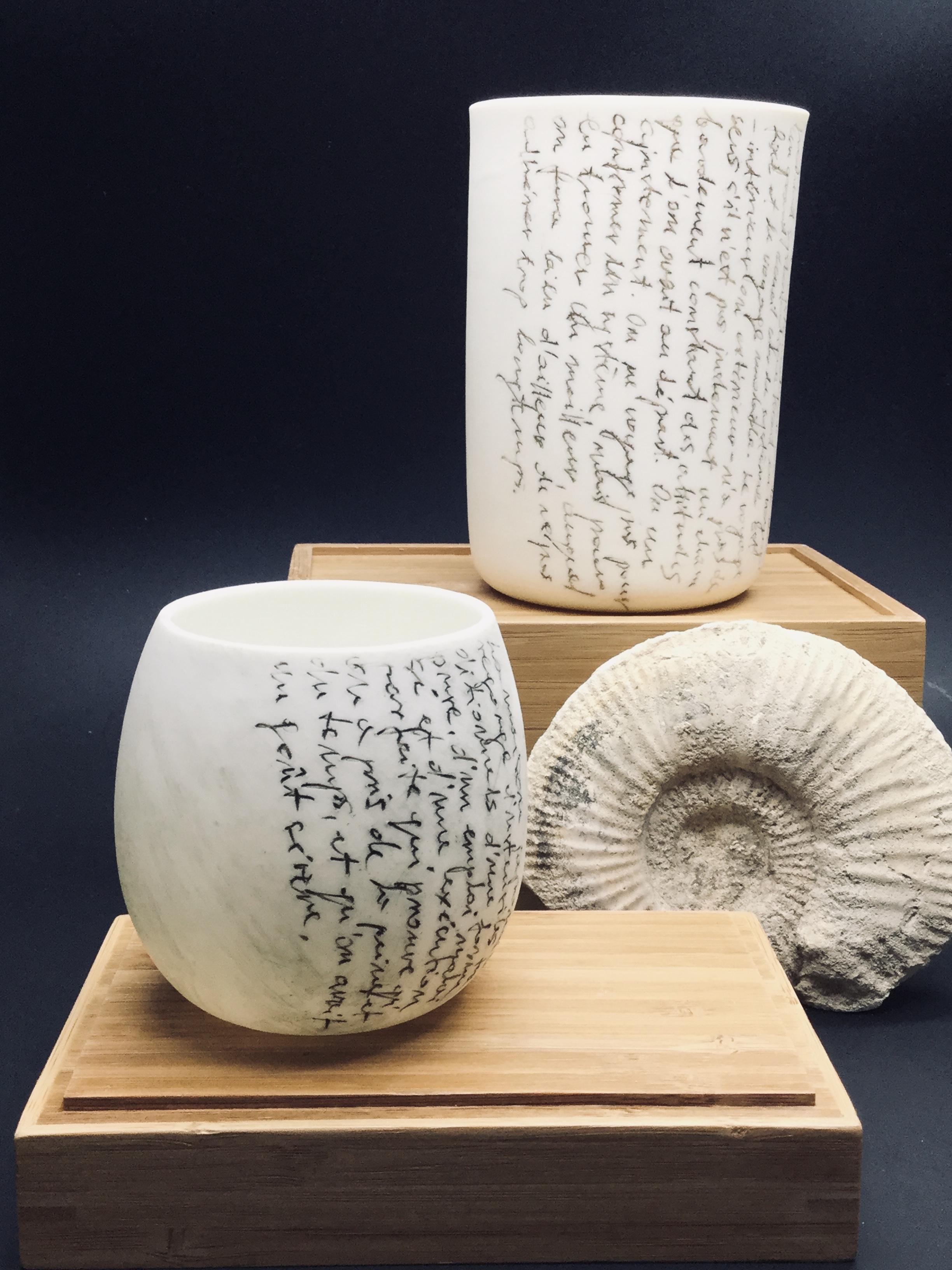 Petits vases porcelaine texte Nicolas Bo