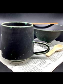 """Mug """"B"""" anse porcelaine"""