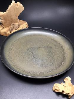 Plateau en grès effet bronze