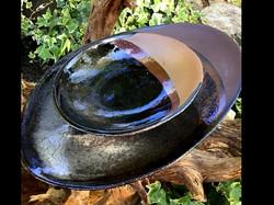 Plats oval dégradé noir et brique