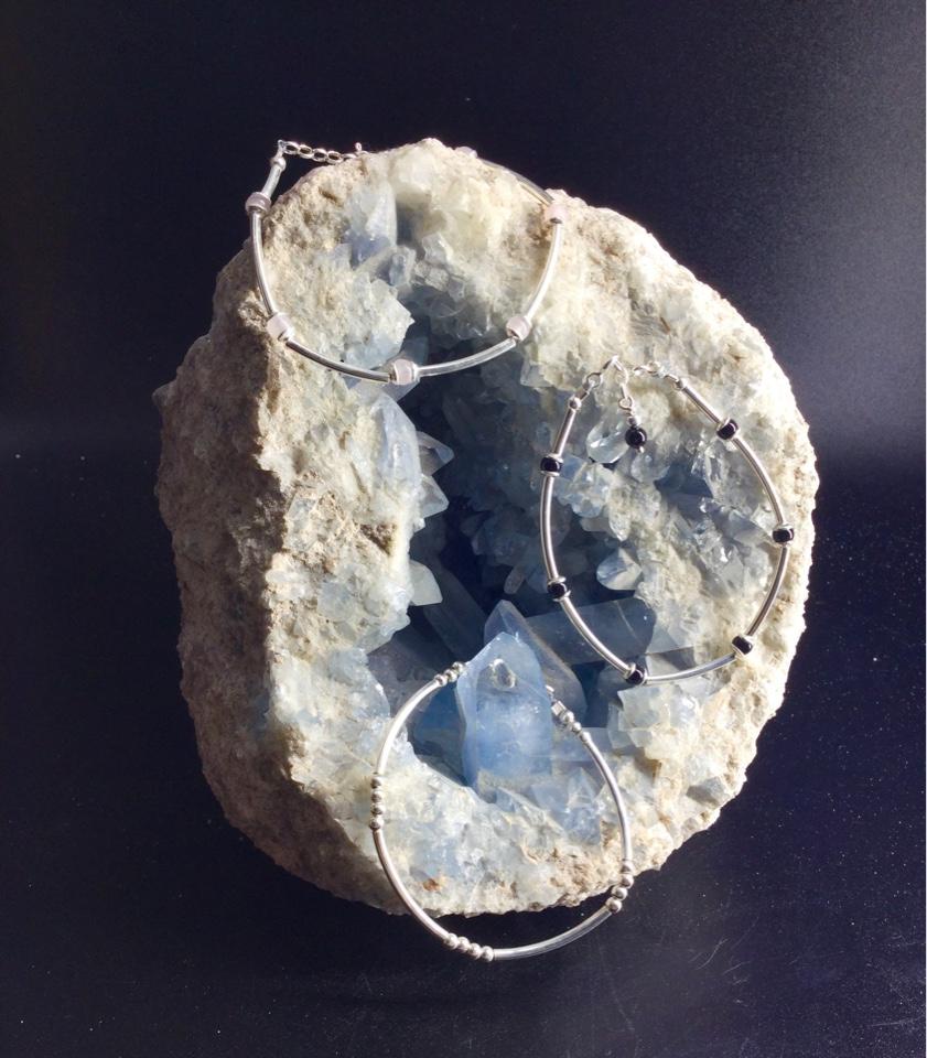 Bracelet femme argent et pierre gemme
