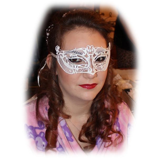 Anna's Masquerade Makeup and Masque
