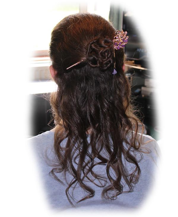Emma's Wedding Hair