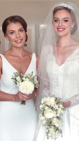 Bride and Bridesmaid from Cowarth Park Wedding