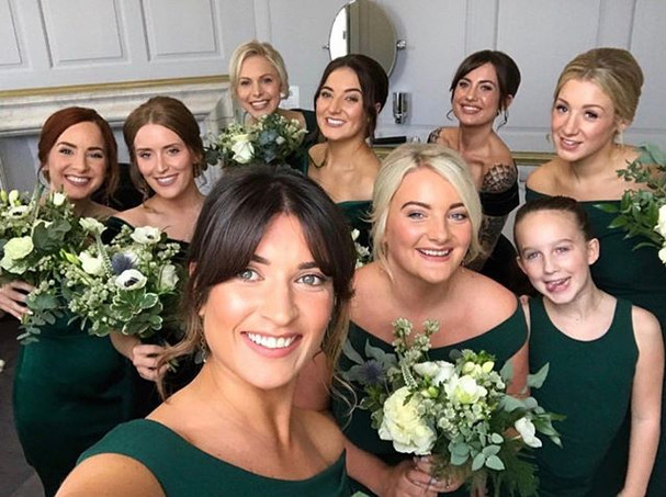Bridal Party Selfie from Gosfield Hall Wedding