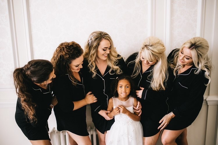 Bridal Party from Hedsor House Wedding