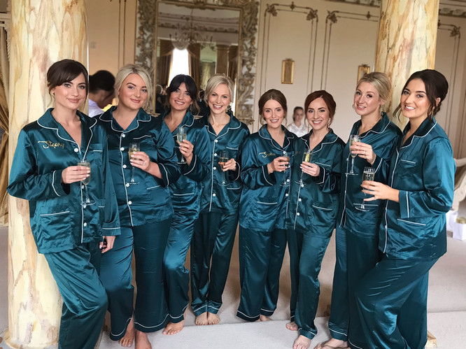 Large Bridal Party from Gosfield Hall Wedding