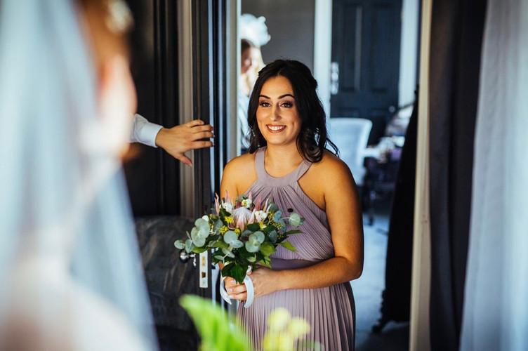 Bridal Reveal to Bridesmaid from Swynford Manor Wedding