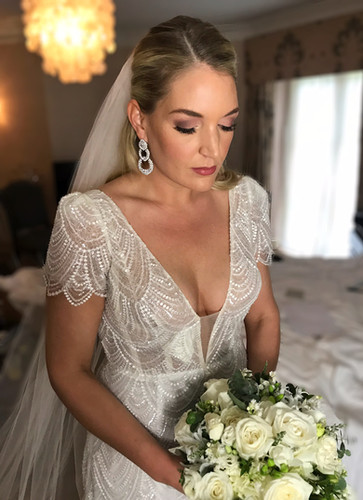 Bride from Maison Talbooth Wedding wearing BOTIAS Accessories Earrings