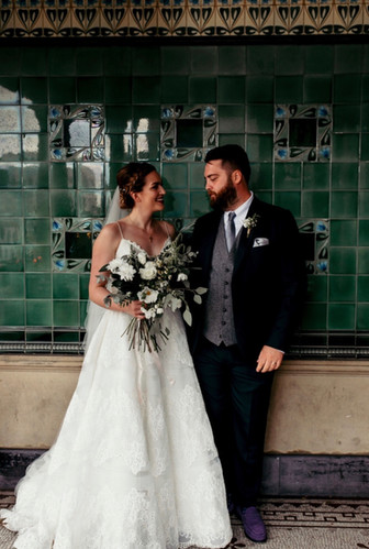 Bride and Groom from Central London Wedding
