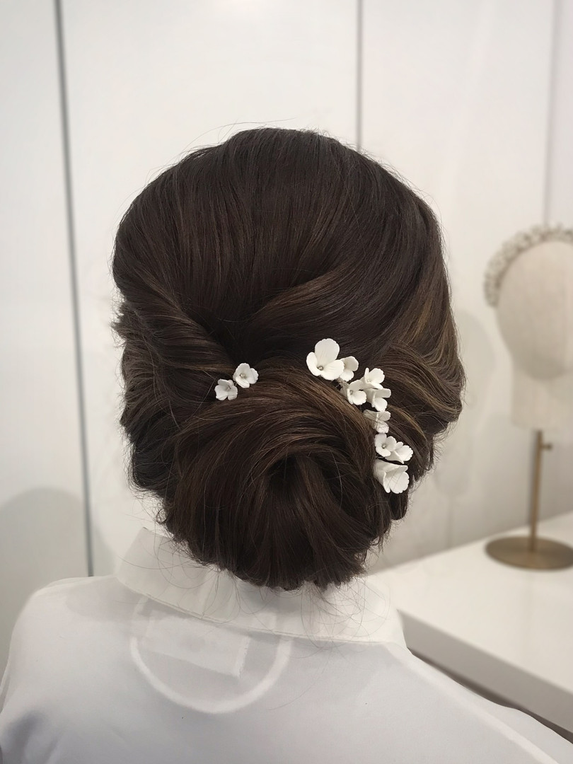 Bridal Bun Up-do with BOTIAS Accessories