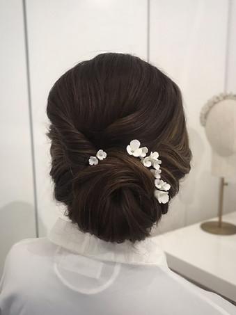 Bridal Bun Up-do with BOTIAS Accessories