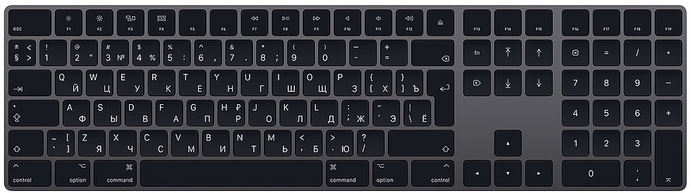 Клавиатура Magic Keyboard с цифровой панелью, цвет «серый кос