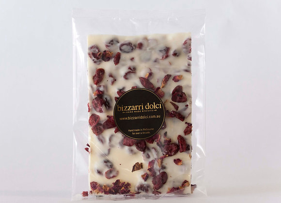 Cranberry & Rose White Chocolate Bark