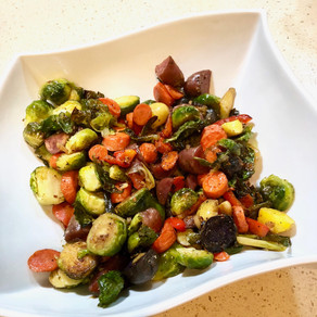 Roasted Brussels Sprouts and Veggies
