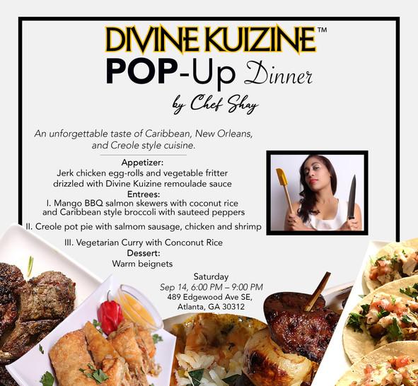 Divine Kuizine Dinner Menu