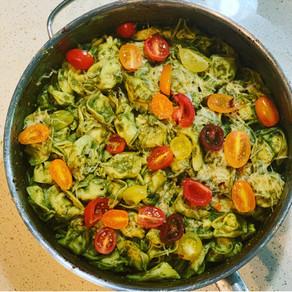Pesto Alfredo Tortellini Pasta