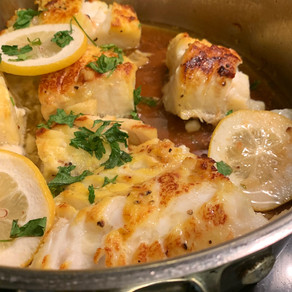 Pan-Seared Buttered Lemon Cod