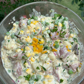 Citrus Potato Salad with Basil Dressing