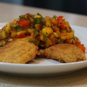Pan -Seared Snapper with Mango Relish