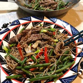Fresh & Delicious Beef Soba Noodles & Green Beans