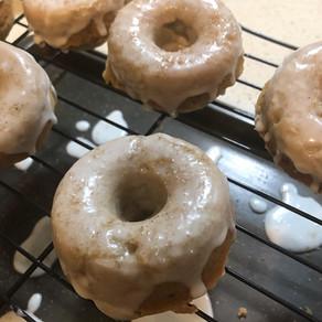 Apple Fritter Glaze Cake Donuts