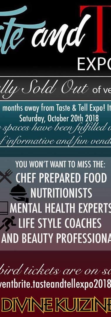 Taste & Tell Expo 2018 Calling All.