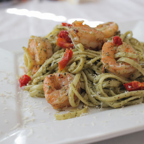 Thai Basil Pesto Shrimp Pasta
