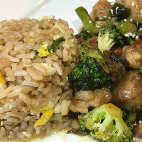 Chicken Stir-fry with Fried Rice