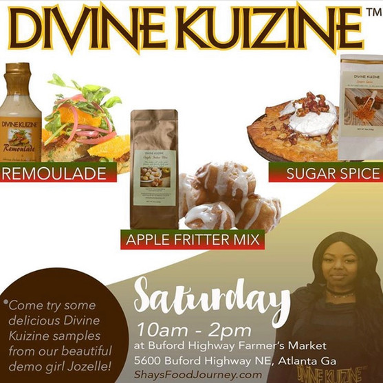 Get your Divine Kuizine products at Buford Highway. Farmer's Market.