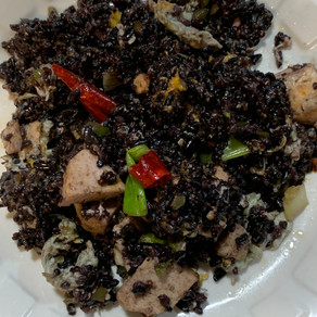 Black Fried Rice with Chicken