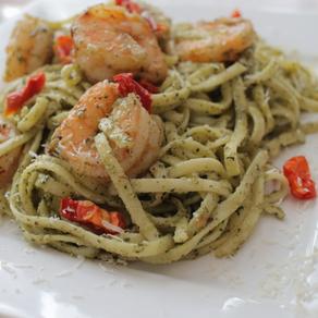 Thai Basil Pesto Shrimp Pasta